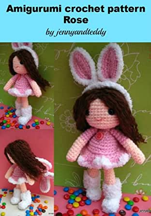 Amigurumi Rose Free Pattern : Amazon.com: amigurumi bunny girl Rose crochet pattern ...