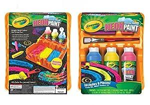 Crayola Washable Sidewalk Neon Paint Tray , 9 piece kit