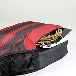 Phitz 3/4 Size Acoustic Guitar Case, Racing Stripe Red - PH45532PTA from Phitz, LLC
