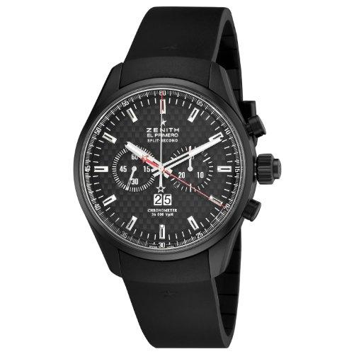Zenith Men's 75.2050.4026/21.R530 El Primero Rattrapante Chronograph Black Dial Watch
