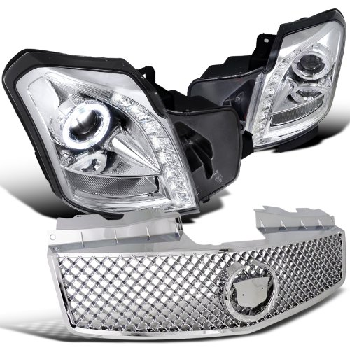 Cadillac Cts Base V 4 Door, Chrome Halo Led Proj. Headlights, Mesh Style Grille