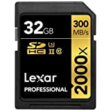 Lexar Professional 2000x 32GB SDHC UHS-II/U3 (Up to 300MB/s Read) w/USB 3.0 Reader - LSD32GCRBNA2000R