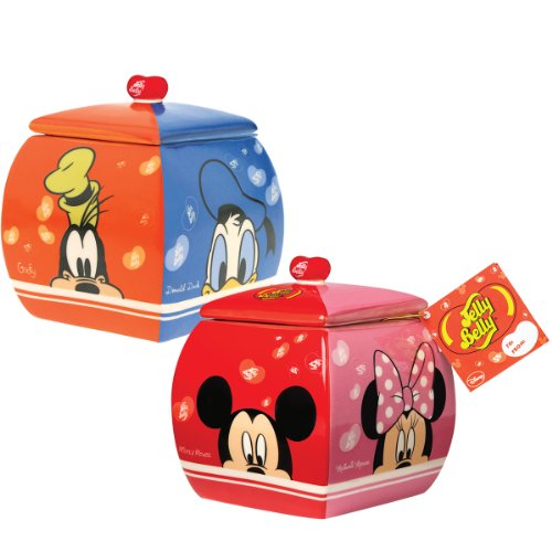 Disney Jelly Belly Candy Dish - Mickey, Minnie, Goofy & Donald (Donald Duck Jelly Belly compare prices)