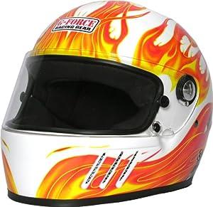 G-Force 3005XLGWH Pro Eliminator X White X-Large Full Face Racing Helmet