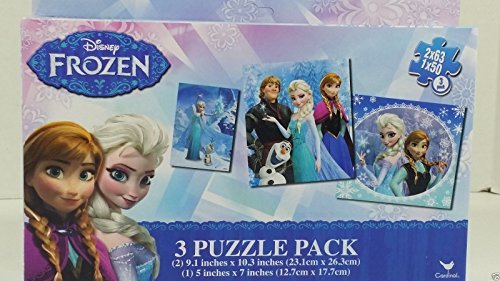 3 Puzzle Pack: Disney Frozen Puzzle Pack! 2 x 63 pieces, 1 x 50 pieces - 1
