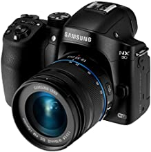"Samsung NX30 20.3MP CMOS Smart WiFi & NFC Mirrorless Digital Camera with 18-55mm Lens and 3"" AMOLED Touch Screen and EVF (Certified Refurbished)"