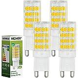 4X MENGS® G9 5W LED Lampe 51x2835 SMD Leuchtmittel Mit Keramic und ACRYLIC Material (480LM, Warmweiß 3000K , AC 220-240V, 360º Abstrahlwinkel, Ø15 x 48mm) Energiespar Licht sehr gut für die Wärmeabgabe