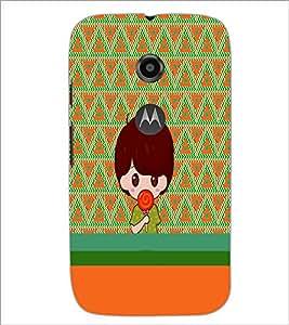 PrintDhaba Cartoon D-4230 Back Case Cover for MOTOROLA MOTO E2 (Multi-Coloured)