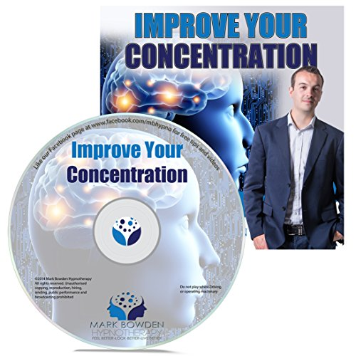 Improve Your Concentration Hypnosis CD - Focus Your Subconscious Mind to Increase Your Attention Span, Enhance Your Memory, Boost Mental Clarity & Reduce Distractions (Focus Program compare prices)