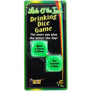 Luck O' The Irish Drinking Dice Game