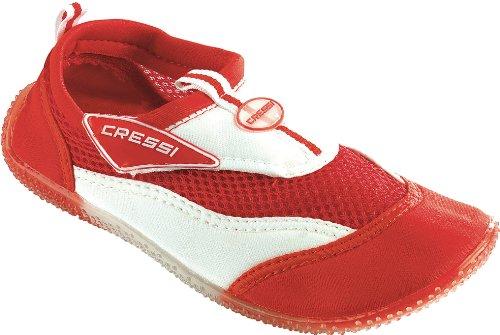Cressi Kids Coral Beach Shoes - Red/White, EU 30/US 12/UK 11.5