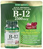 Natures Bounty B-12 2500 mcg, 250 Microlozenges