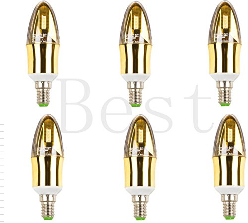 Best To Buy® (3-Pack) Super Quality E12 Dimmable Led Aluminium Candle Led Light Bulb Sangsung Chips 5W=55W Soft White Light