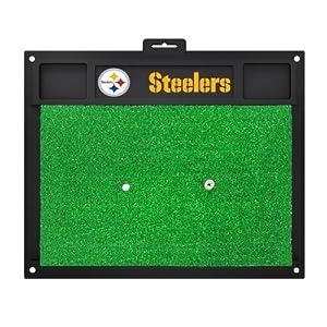 FANMATS 15473 Pittsburgh Steelers Golf Hitting Mat at Steeler Mania
