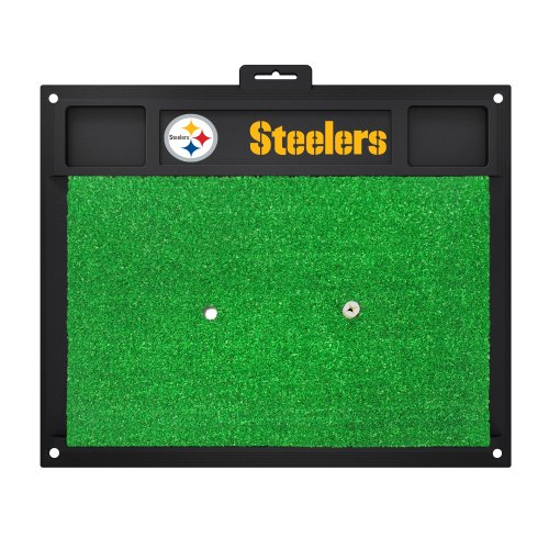 FANMATS 15473 Pittsburgh Steelers Golf Hitting Mat at Steeler Mania