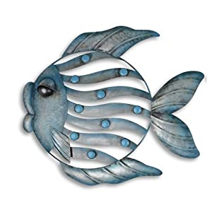 Left Facing Metal Fish Home & Garden Wall Art Nautical Feature from Home33Accessories