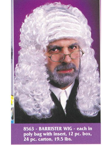 Costume-Wig Judge White Halloween Costume - 1 size