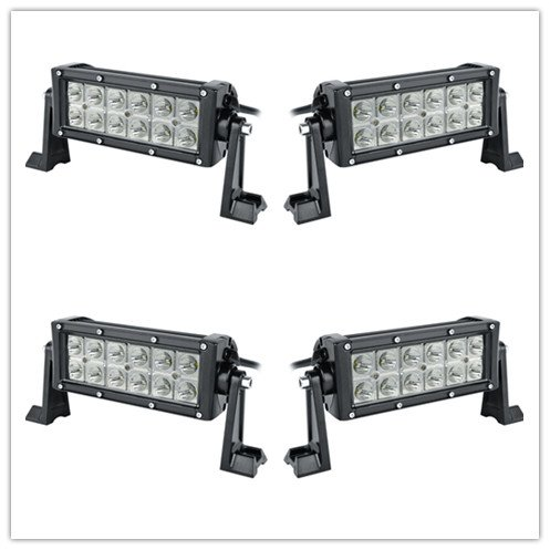 4X 72W 12/'/' Combo LED Work Light Bar Driving Lamp 4WD SUV Truck UTE Offroad ATV