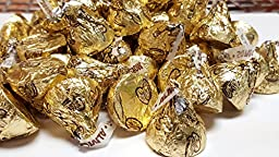 Hershey\'s Kisses Gold Candy With Almonds, 4.1 pounds
