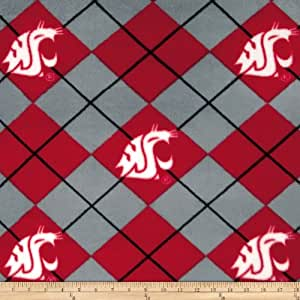 collegiate fleece washington state university crimson fabric by the yard. Black Bedroom Furniture Sets. Home Design Ideas