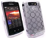 EMARTBUY BLACKBERRY 9520 STORM 2 CIRCLE PATTERN SILICON GEL SKIN COVER/CASE CLEAR + SCREEN PROTECTOR