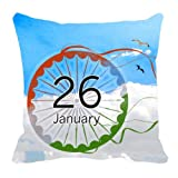 meSleep Digitally Printed Republic Day Satin Cushion Cover - Multicolor (Republic-05) best price on Amazon @ Rs. 179