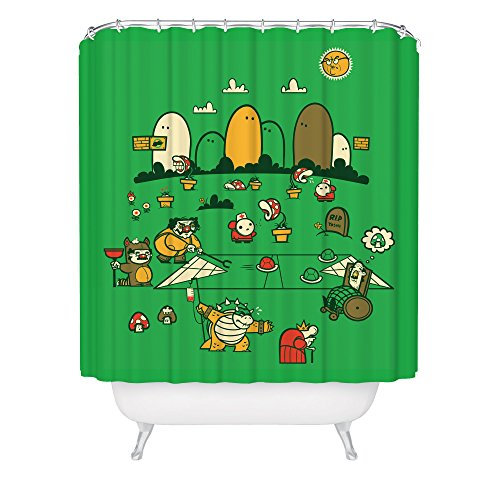 Super Mario Bros Shower Curtain / Nintendo Shower Curtain / Video Game Shower Curtain / Fox Artwork / Made in USA / Great Decoration Gift for Bathroom (Super Mario 74 compare prices)