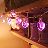 4M 40LED Novelty pink Battery Operated LED String Lights Heart Shape for Wedding, Indoor,Outdoor Party Christmas Decoration