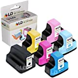 LD © Remanufactured Replacement for Hewlett Packard (HP) 02 Ink Cartridges Set of 6 : 1 Black C8721WN, Cyan C8771WN, Magenta C8772WN, Yellow C8773WN, Light Cyan C8774WN, Light Magenta C8775WN