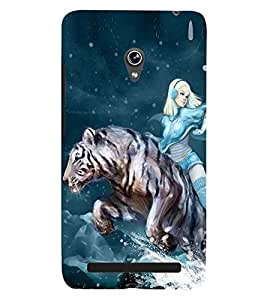 PRINTSWAG TIGER GIRL Designer Back Cover Case for ASUS ZENFONE 6 A601CG
