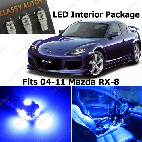 Classy Autos Blue LED Lights Interior Package Deal Mazda RX-8 (6 Pieces) (Mazda Rx 8 2004 compare prices)