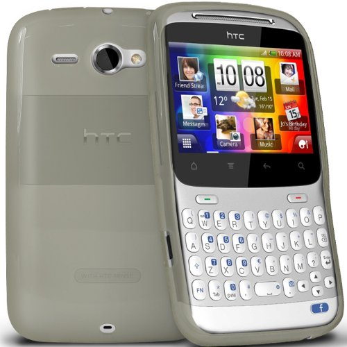 KC-Electronics HTC ChaCha White Gel Skin Case + LCD Screen Protector Guard