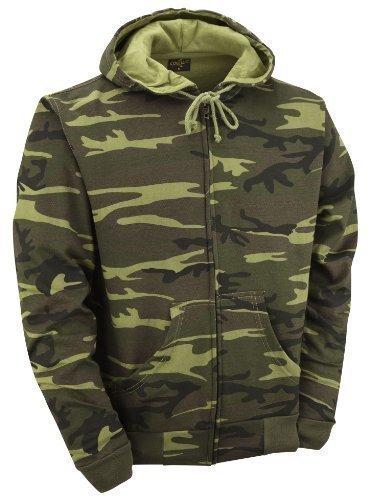 Itv-Felpa con cappuccio, da uomo Camouflage Forêt Large