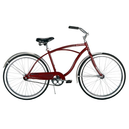 Huffy Mens Good Vibrations Bike, Maroon, 26-Inch