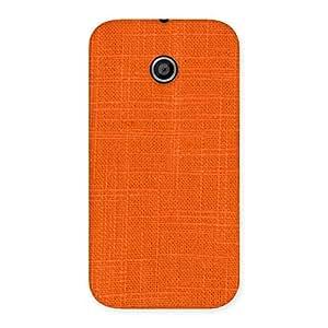Stylish Orange Texture Squary Back Case Cover for Moto E