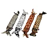 Multipet Katz Kicker Elongated Catnip Filled Plush Cat Toy with Crinkle and Feathers, 17-Inch