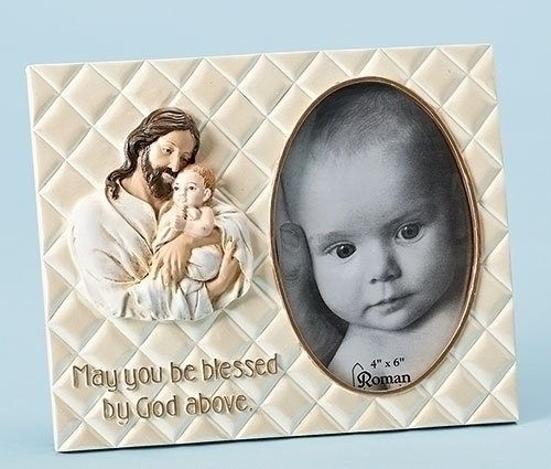"Joseph's Studio 7""h ""Wrapped in HIS Love"" Jesus with Baby 4x6 Picture Frame"