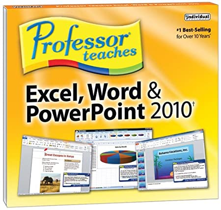 Professor Teaches Excel, Word and Powerpoint 2010 (Jewel Case Edition)