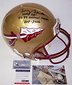 Bobby Bowden Autographed Hand Signed Florida State Seminoles Authentic Helmet - PSA... by Sports+Memorabilia