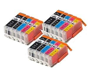 15 XL Colour Direct Compatible Ink Cartridges Replacement For Canon CLI-551XL/ PGI-550XL Pixma MG5450 MG5550 MG5650 MG6350 MG6450 MG6650 MX725 MX925 IP7150 iP7250 ix6850 Printers