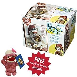 PeeJay Sock Monkey with Free Baby Sock Monkey