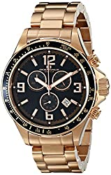 Oceanaut Mens OC3329 Baltica Analog Display Swiss Quartz Rose Gold Watch