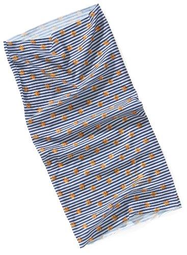 Lassig Twister Sweat Wicking Multi Use Scarf Hairband and Headband, Skull Orange
