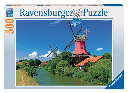 Romantic Windmills 500 Piece Puzzle - 1