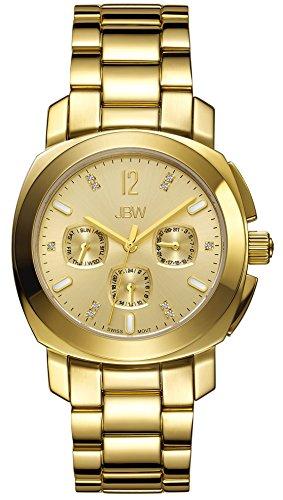 JBW  J6298B - Reloj de cuarzo para mujer, con correa de acero inoxidable chapado, color dorado