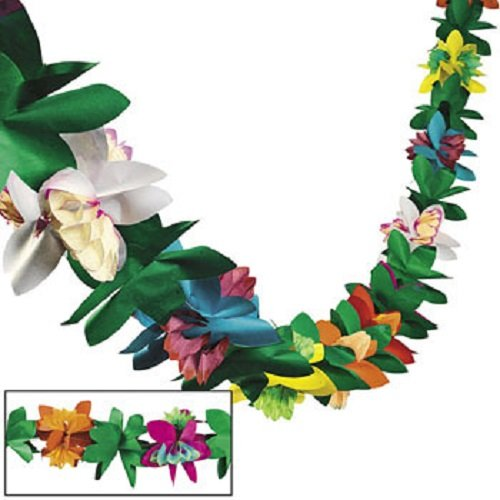 Review Tissue Flower Garland