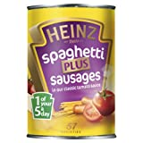Heinz Spaghetti Plus Sausages in Classic Tomato Sauce 400 g (Pack of 24)