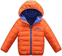 Biwinky Children Winter Warm Candy Color Down Coat Hoodie Jacket