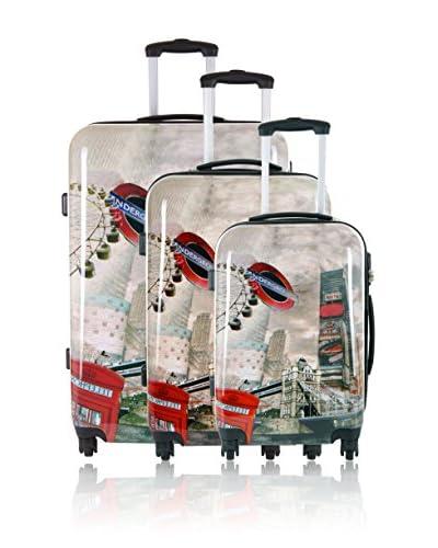 Travel One Set 3 Trolley Rigido Bingley 2 [Multicolore]
