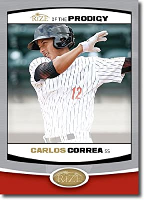 2012 RIZE Draft Prodigy Paragon Card #P-9 Carlos Correa - Houston Astros (Rookie / Prospect Insert) MLB Baseball Trading Cards